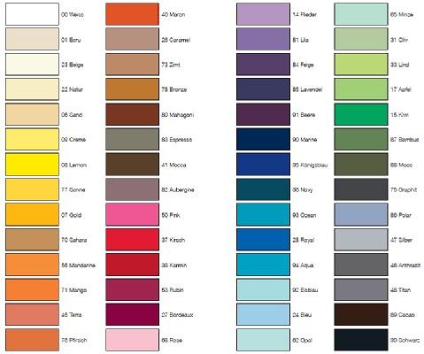 Nuancier des couleurs des draps-housse deluxe jersey
