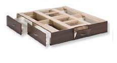 2 x 2 tiroirs pour une hauteur de lit de 52 cm