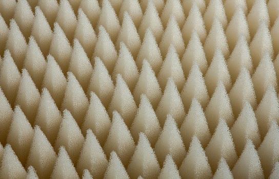 formes pyramidales du dessus de la mousse quantum