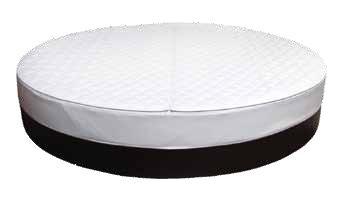Lit à eau rond socle box rond avec cadre en mousse, diamètre 230 cm.