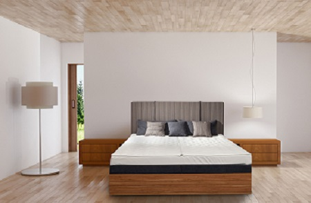 Lit à eau Multiconfort Split avec Tête de lit
