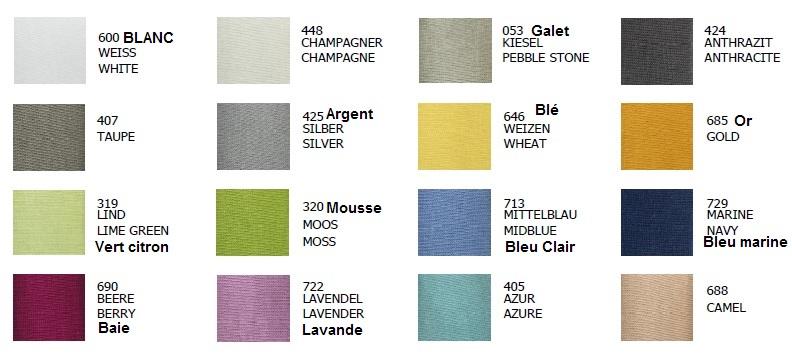 nuancier du drap housse jersey Premium d'Hefel