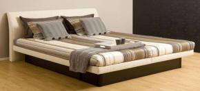 le lit à eau Smile de Poseïdon avec tëte de lit