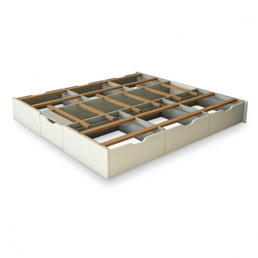 socle à 2 x 3 tiroirs hauteur du lit de 45 cm ou 52 cm
