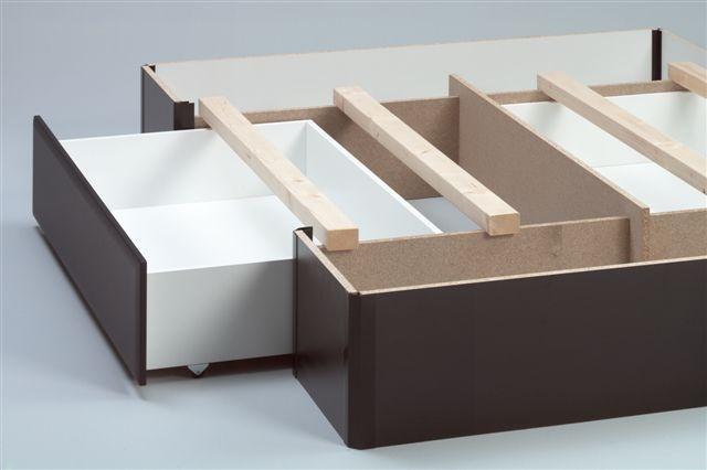 socle à deux grands tiroirs